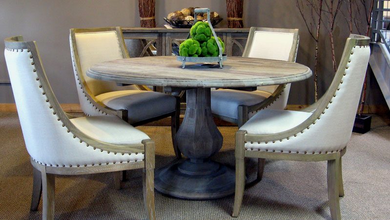 sienna elm dining in our rustic chic room, Lighting ideas