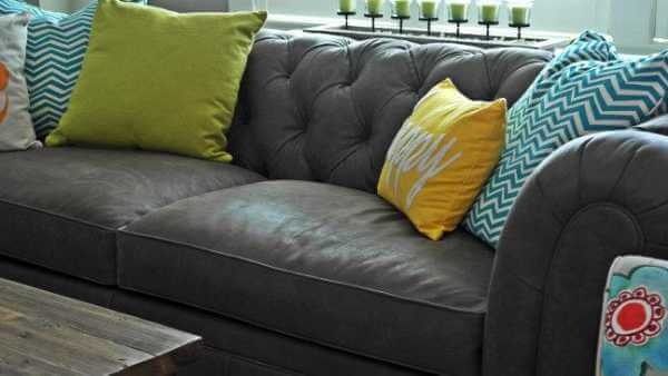 Leather Chesterfield Sofa Combined with Vibrant Color post image
