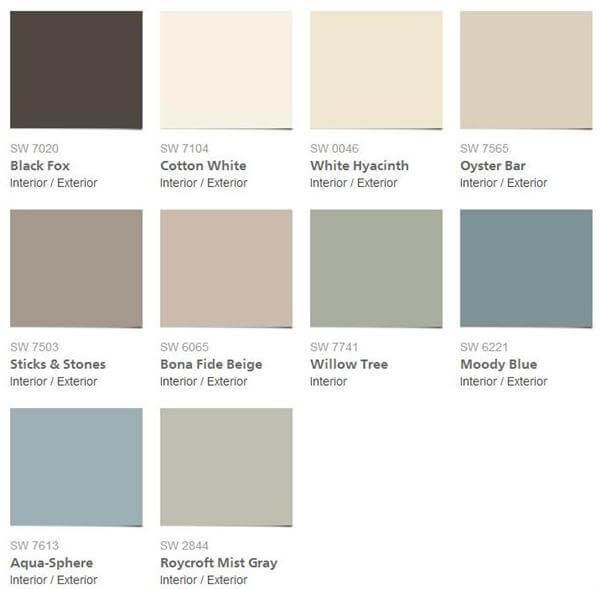 Sherwin williams interior paint color schemes 123 Most popular sherwin williams colors 2015