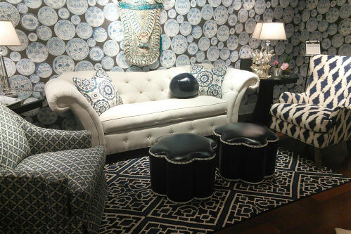 Norwalk furniture at 2014 High Point market in Glam Trend