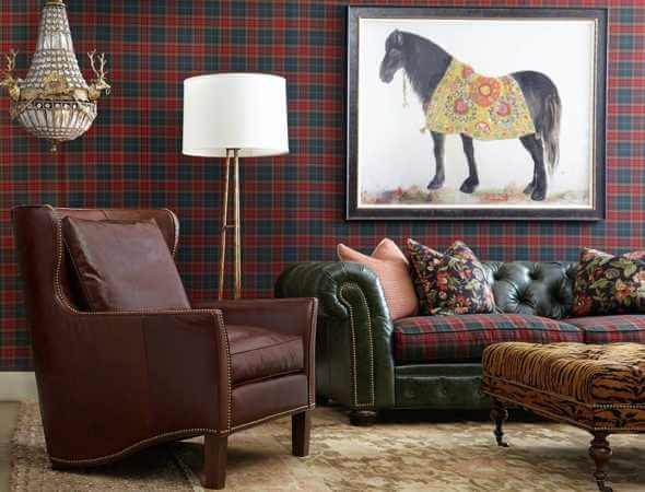 2015 Interior Design Trend: Tartan and Tapestry post image