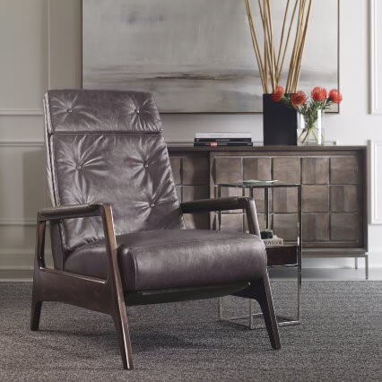 Sheldon-Leather-Recliner-Chair-Mid-century-modern