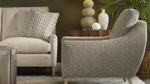 Gray chair and sofa