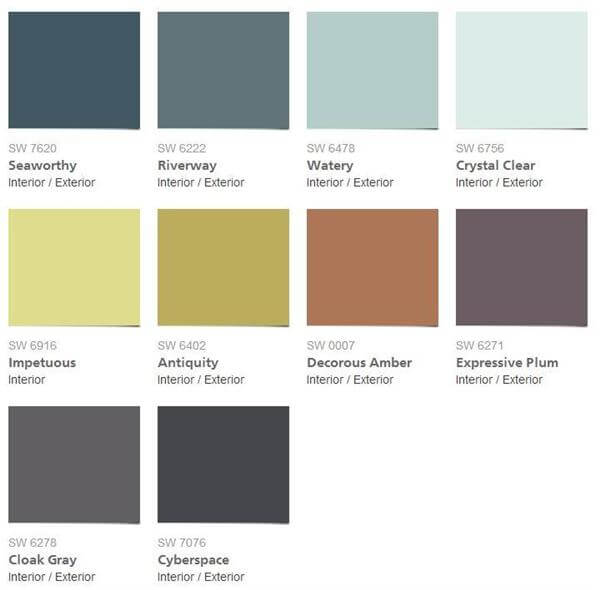 Sherwin Williams Spa Paint Color