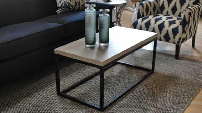 Maximus Coffee Table Concrete Top