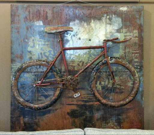 Bicycle Metal Three Dimensional Wall Art
