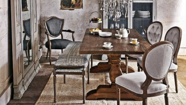 Rustic Chic Dining Chairs rustic chic dining furniture collection