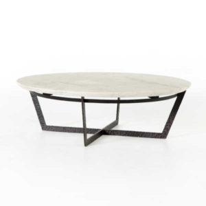 Felix Round Coffee Table w White Marble