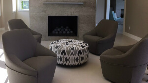 hearth room with swivel chairs
