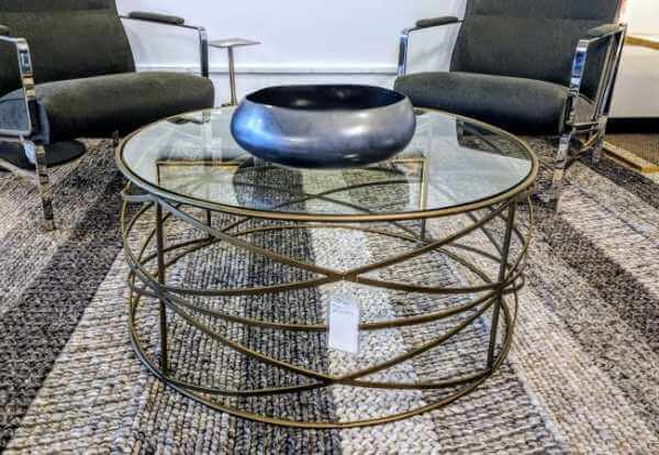 IMAR-70-MBR Greer Coffee Table -matte brass