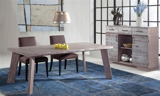 South End Collection 42x60 Table & Buffet in Cafe Oak finish