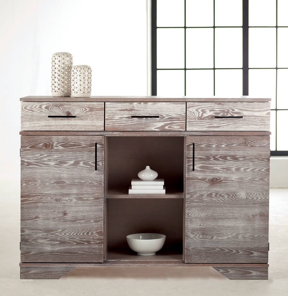 South End Collection Buffet in Cafe Oak Finish