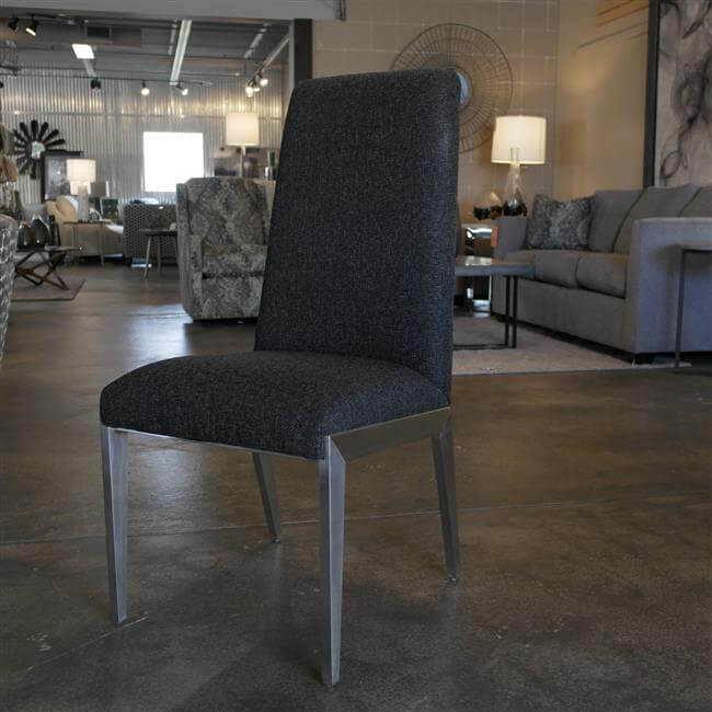 Brushed Steel Dining Chair
