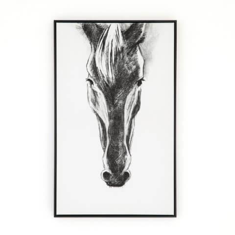 ULOF-710 black Horse print