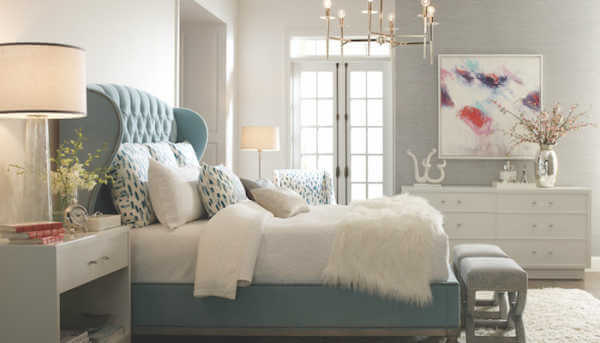 Blue Upholstery bed