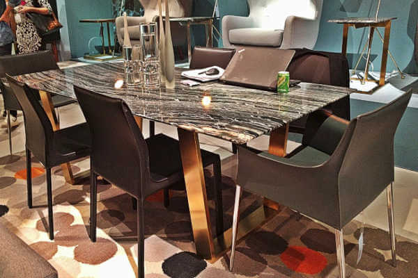 black-marble-brass-dining-table